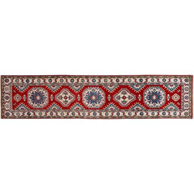 One-of-a-Kind Hynes Hand-Knotted Wool Red/Ivory Area Rug