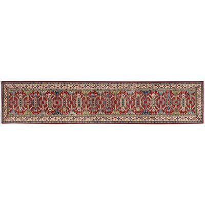 One-of-a-Kind Finnell Hand-Knotted Wool Red/Ivory Area Rug