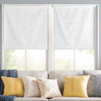 Wayfair Basics Room Darkening White Roller Shade Size: 55.25 W x 72 L