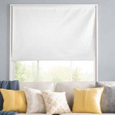 Wayfair Basics Room Darkening White Roller Shade Size: 37.25 W x 72 L