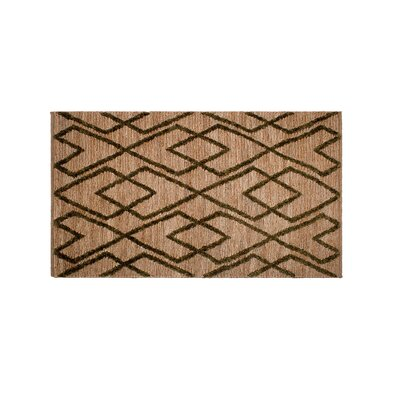 Fleischer Anatolia Soumak Hand-Woven Wool Green/Tan Area Rug Rug Size: Rectangle 5 x 8