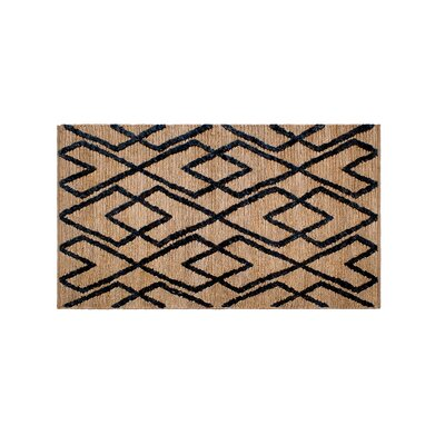 Fleishman Soumak Hand-Woven Wool Charcoal/Tan Area Rug Rug Size: Rectangle 8 x 10