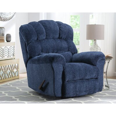 Costales Easy Rider Rocker Recliner Reclining Type: Manual, Upholstery: Blue