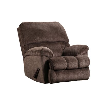 Hepner Rocker Recliner Reclining Type: Manual, Upholstery: Chestnut