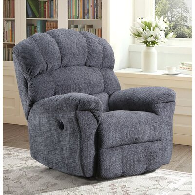 Costales Easy Rider Rocker Recliner Reclining Type: Power, Upholstery: Gray