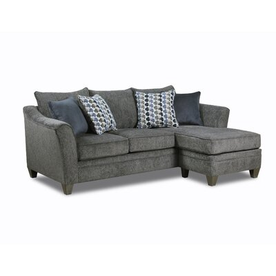 Teri Reversible Sectional Upholstery: Slate
