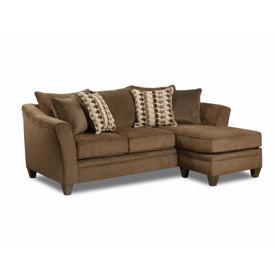 Teri Reversible Sectional Upholstery: Chestnut