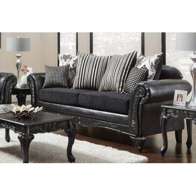 Lummus Sofa Upholstery: Black