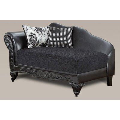 Lummus Chaise Lounge Upholstery: Black/Black