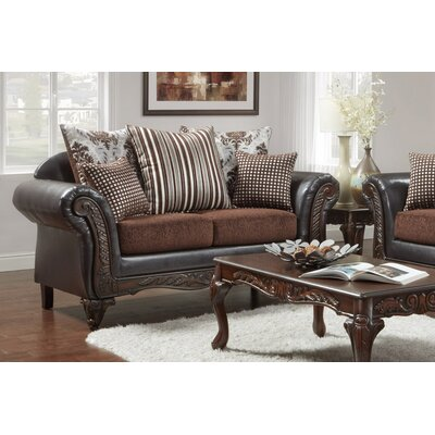 Lummus Loveseat Upholstery: Brown