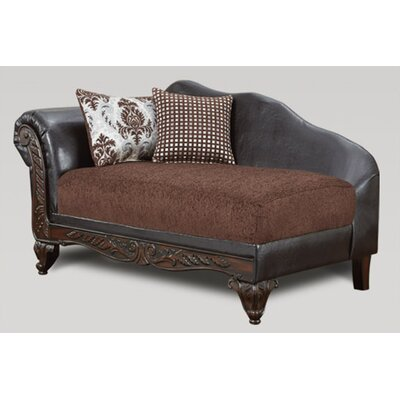 Lummus Chaise Lounge Upholstery: Brown/Black