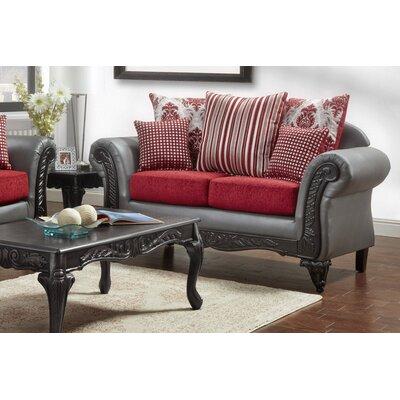 Lummus Loveseat Upholstery: Gray