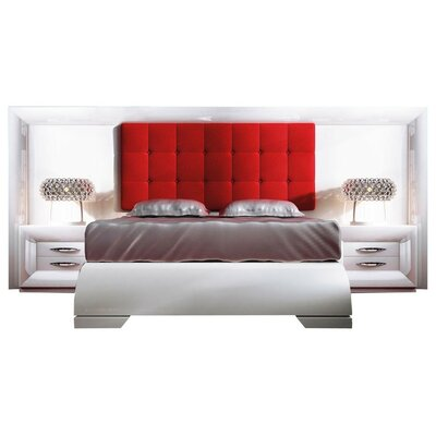 Krajewski Special Headboard Platform 4 Piece Bedroom Set Size: King