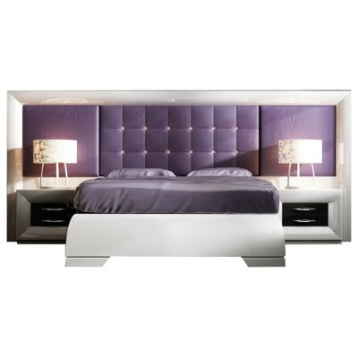 Glenoe Special Headboard Platform 4 Piece Bedroom Set Size: Queen