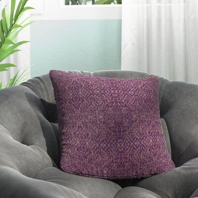 Dezirae Purple Throw Pillow Size: 16 H x 16 W x 6 D