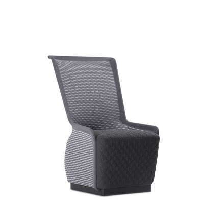 Guyette Mesh Lounge Chair Seat Color: Black