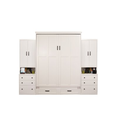Dredge Queen Murphy Bed Color: White