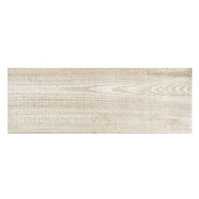 Bayur Blanco 6.8 x 19.5 Ceramic Wood Look Tile in Bone White