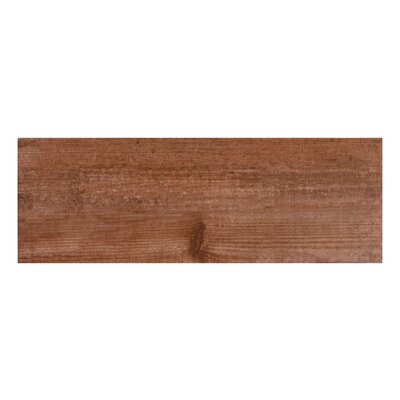 Bayur Teka 6.8 x 19.5 Ceramic Wood Look Tile in Teak