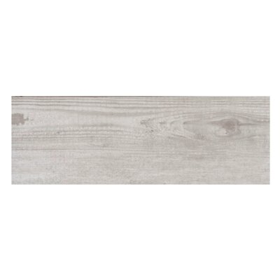 Bayur Ceniza 6.8 x 19.5 Ceramic Wood Look Tile in Ash