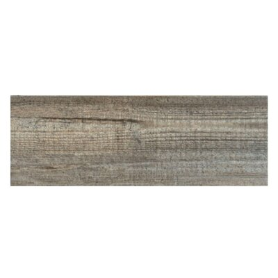 Bayur Borneo 6.8 x 19.5 Ceramic Wood Look Tile in Chestnut