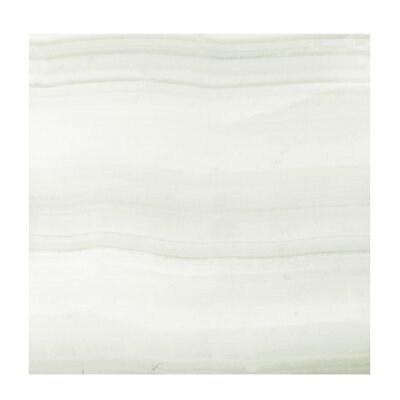 Agata Blanco Marble 24 x 24 Porcelain Field Tile in White