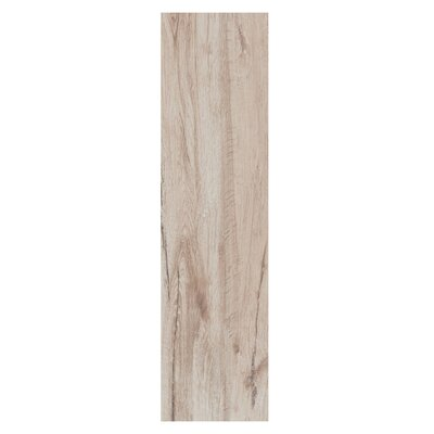 """Real Wood 6"""" X 24"""" Porcelain Wood Look Tile In Larice"""