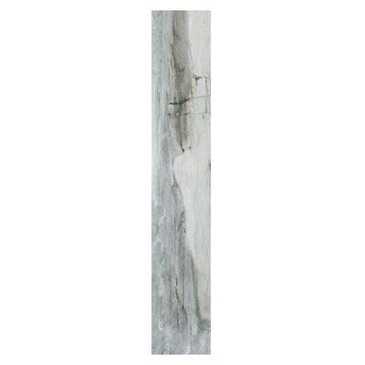 Waterfall Yosemite 6 x 36 Porcelain Wood Look Tile in Gray