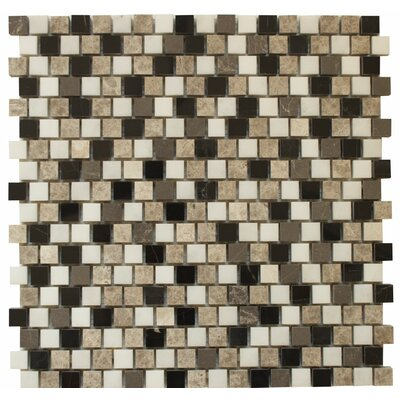 Offset 0.63 x 0.63 Marble Mosaic Tile in Levanzo