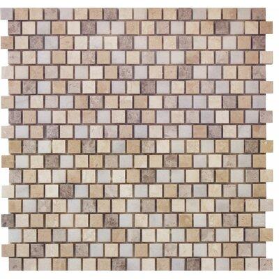 Offset 0.63 x 0.63 Marble Mosaic Tile in Indigo Soul