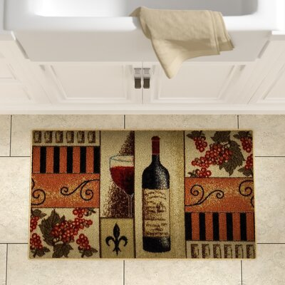 Birdsview Kitchen Mat Rug Size: 16 x 27