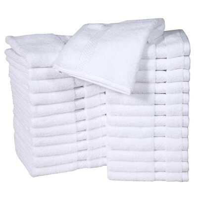 Columbard Fine Combed Cotton Wash Cloth Color: White