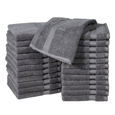 Columbard Fine Combed Cotton Wash Cloth Color: Gray