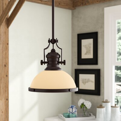 Susan 1-Light Bowl Pendant Finish: Oiled Bronze