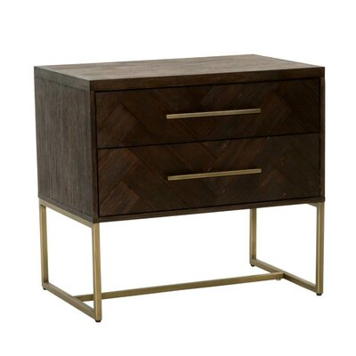 Coursey Nightstand Color: Java