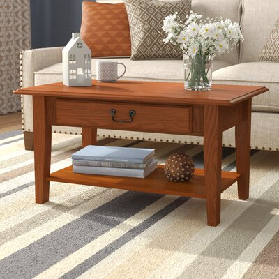 Clearock Coffee Table Color: Medium Oak
