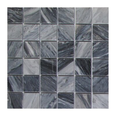 Bardiglio 2 x 2 Marble Mosaic Tile in Dark Gray