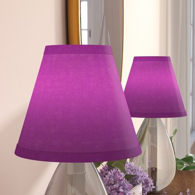 6 Satin Empire Clip-on Lamp Shade Color: Purple