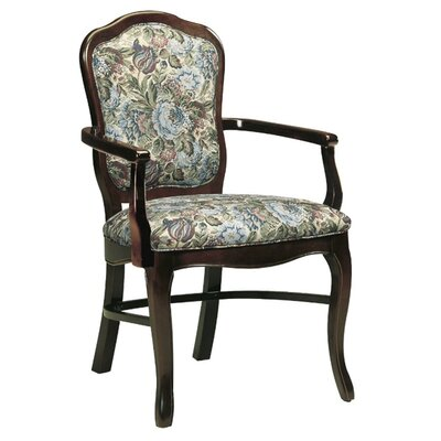 Upholstered Dining Chair Upholstery Color: Howdy Saddle, Frame Color: Kensington Maple
