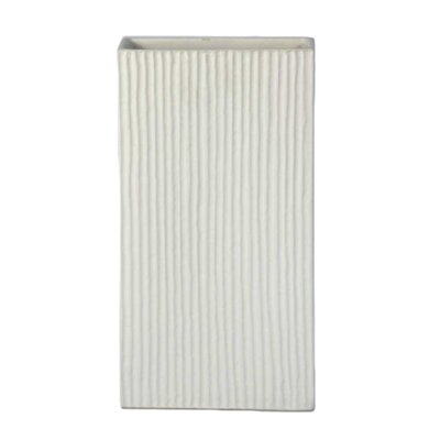 Parise Ceramic Ribbed Box Table Vase 3FC5C2335E904990964243978DA20298