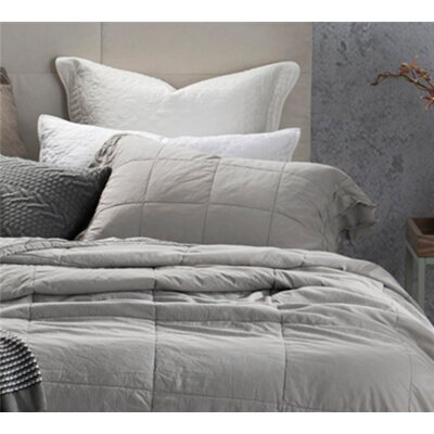 Cristobal Percale Stone Wash Sham Size: King