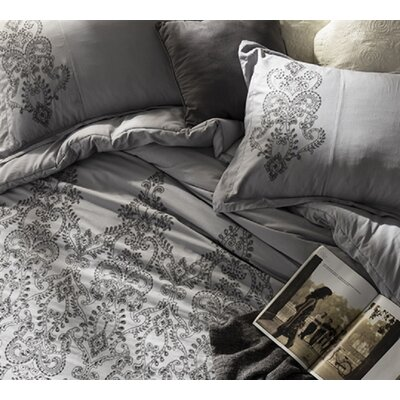 Kucharski Stitch Styled Sham Size: Standard, Color: Alloy/Pewter