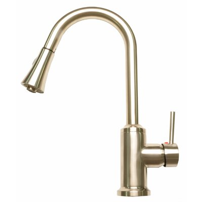 Modern High Arc Pull-Down Touch Single Handle Kitchen Faucet with Side Spray
