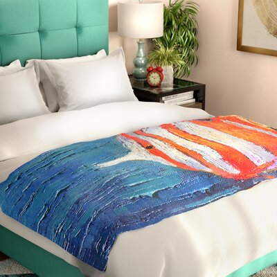 Carol Schiff Reef Fish 1 Painting Bed Runner