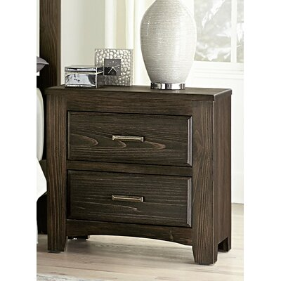 Hernandez 2 Drawer Nightstand Color: Coffee