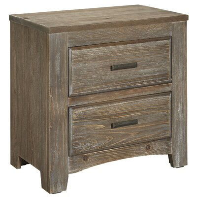 Hernandez 2 Drawer Nightstand Color: Saddle Gray