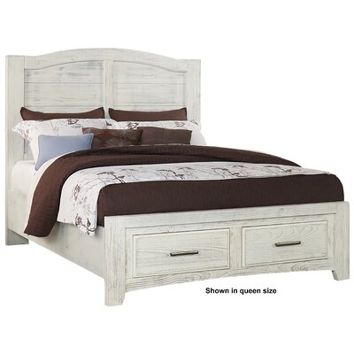 Hernandez Mansion Panel Headboard Size: King, Color: Weathered White