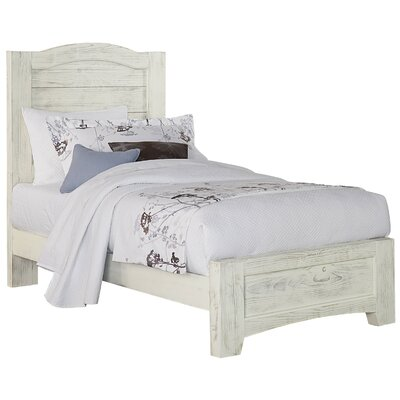 Hernandez Mansion Panel Headboard Size: Twin, Color: Weathered White