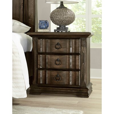 Kilpatrick 3 Drawer Nightstand Color: Coffee