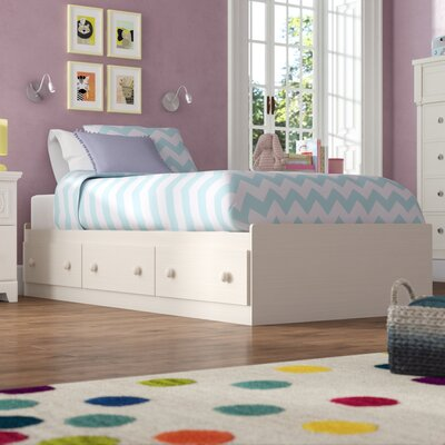 Barra Mates Bed with Storage Size: Twin, Color: White Wash